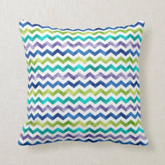 Chevron Pattern Multi Color Shimmer 1 Throw Pillow