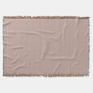 Chevron pattern natural warm brown and pale pink throw