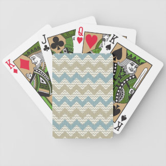Chevron pattern on linen texture bicycle playing cards