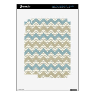 Chevron pattern on linen texture iPad 3 skin