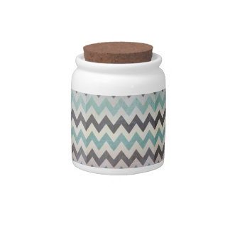 Chevron Pattern On Metal Texture by Shirley Taylor Candy Jar