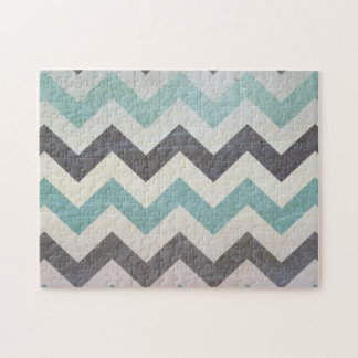 Chevron Pattern On Metal Texture by Shirley Taylor Jigsaw Puzzle