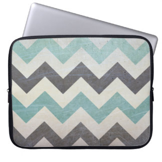 Chevron Pattern On Metal Texture by Shirley Taylor Laptop Sleeve