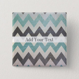 Chevron Pattern On Metal Texture by Shirley Taylor Pinback Button