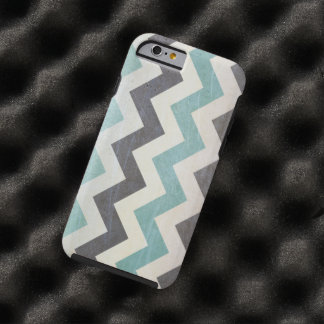 Chevron Pattern On Metal Texture by Shirley Taylor Tough iPhone 6 Case