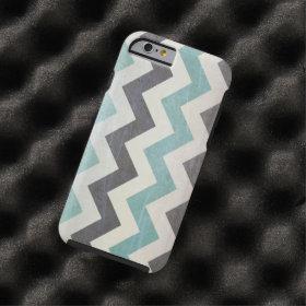 Chevron Pattern On Metal Texture Tough iPhone 6 Case