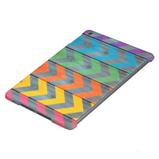 Chevron Pattern On Metal Texture Cover For iPad Air