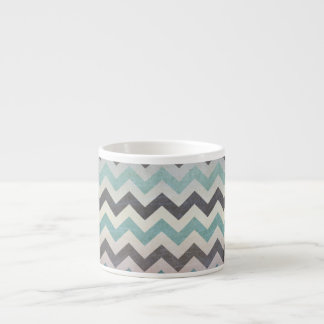 Chevron Pattern On Metal Texture Espresso Cup