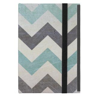 Chevron Pattern On Metal Texture iPad Mini Case
