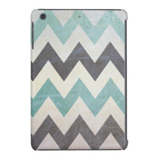 Chevron Pattern On Metal Texture iPad Mini Retina Cover