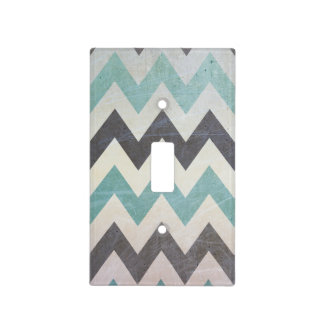 Chevron Pattern On Metal Texture Switch Plate Cover