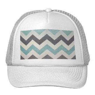 Chevron Pattern On Metal Texture Trucker Hat
