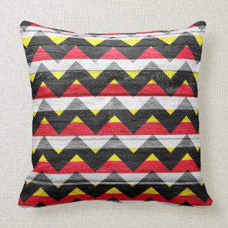 Chevron Pattern on Vintage Wooden Throw Pillow