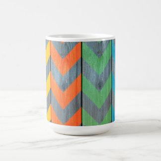 Chevron Pattern On Wood Texture by Shirley Taylor Coffee Mug