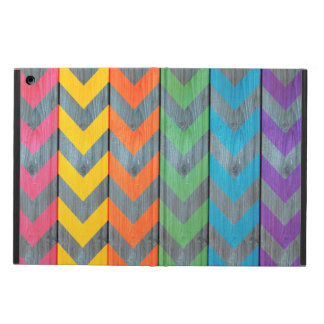 Chevron Pattern On Wood Texture by Shirley Taylor iPad Air Case