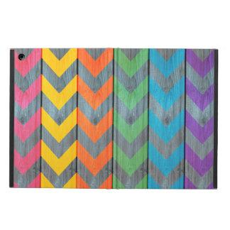 Chevron Pattern On Wood Texture iPad Air Case