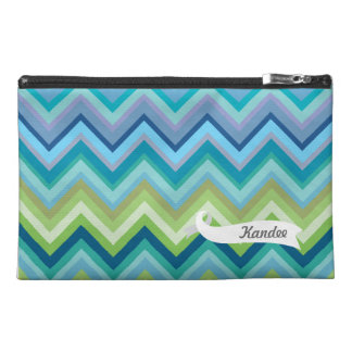 Chevron Pattern Personalized Name Make Up Bag! Travel Accessories Bags