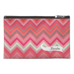 Chevron Pattern Personalized Name Make Up Bag! Travel Accessory Bags