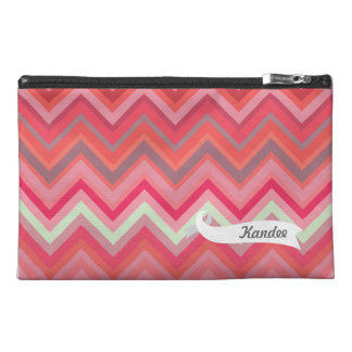Chevron Pattern Personalized Name Make Up Bag! Travel Accessory Bag