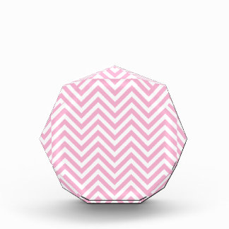 Chevron Pattern Pink White ZigZag For Her Acrylic Award
