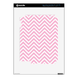 Chevron Pattern Pink White ZigZag For Her iPad 3 Skin