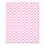 Chevron Pattern Pink White ZigZag For Her Photo Print