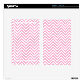 Chevron Pattern Pink White ZigZag For Her Skins For Kindle Fire