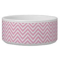 Chevron Pattern Pink White ZigZag Vintage Retro Bowl