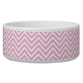 Chevron Pattern Pink White ZigZag Vintage Retro Bowl