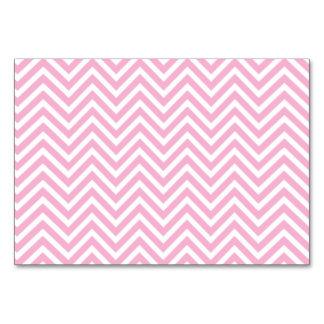 Chevron Pattern Pink White ZigZag Vintage Retro Card