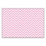 Chevron Pattern Pink White ZigZag Vintage Retro Table Card