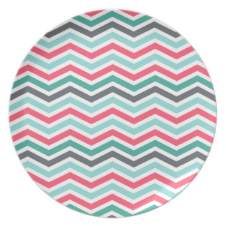 Chevron Pattern Plate