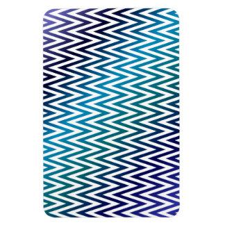 Chevron pattern rectangular photo magnet