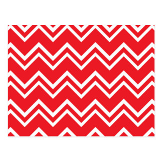 Chevron Pattern Red Postcard