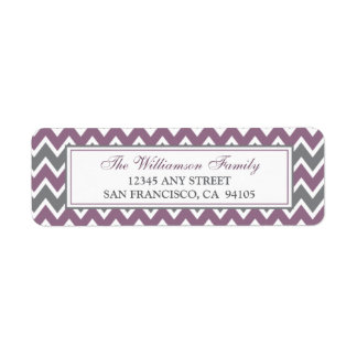 Chevron Pattern Return Address Labels (purple)