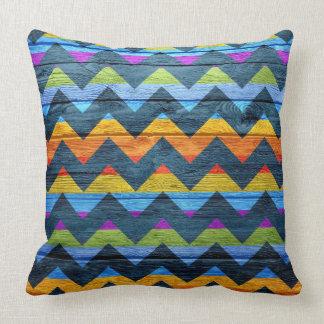 Chevron Pattern Vintage Wooden #2 Throw Pillow