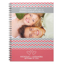 Chevron Pattern Wedding Planner Notebook (pink)