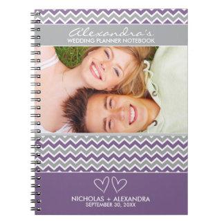 Chevron Pattern Wedding Planner Notebook (purple)