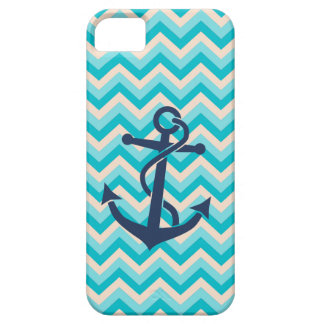 Chevron Pattern with Anchor iPhone 5 Cases