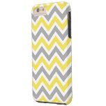 Chevron Pattern Zig Zag Gray and Yellow iPhone 6 Plus Case