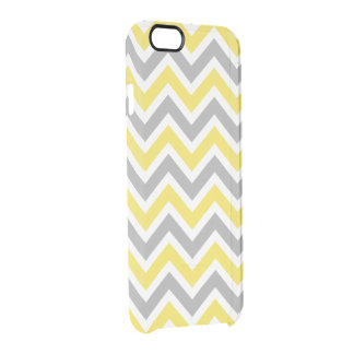 Chevron Pattern Zig Zag Gray and Yellow Uncommon Clearly™ Deflector iPhone 6 Case
