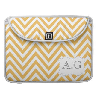 "Chevron Personalized Monogram Macbook Pro 15"" Bag Sleeve For MacBook Pro"