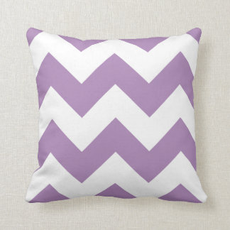 Chevron Pillow with African Violet Purple Zigzag