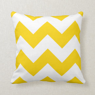 Chevron Pillow with Freesia Yellow Zigzag