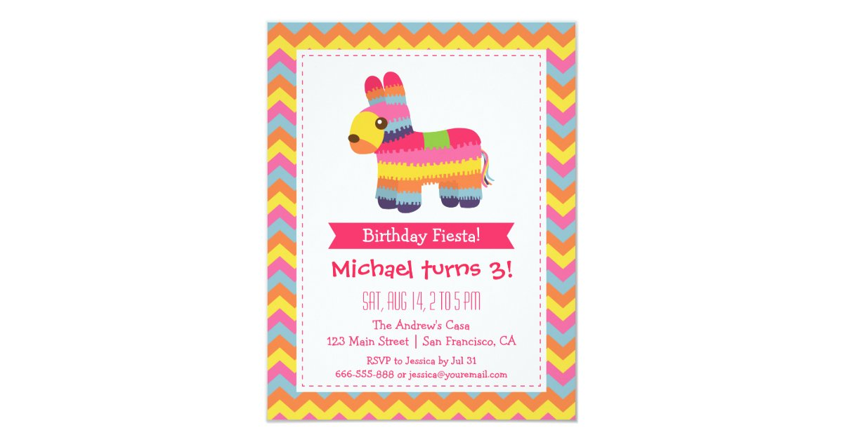 Mexican Themed Party Invitations & Announcements | Zazzle