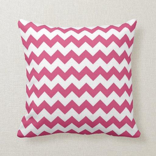 Chevron Pink And White Pillows