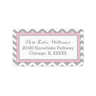 Chevron Pink Baby Girl Label