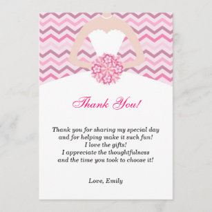 bridal shower thank you cards zazzle