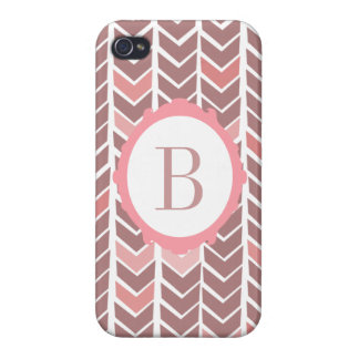 Chevron Pink Monogram iPhone Case Cases For iPhone 4