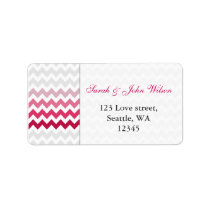 chevron Pink Ombre  return address label